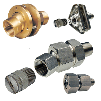 Swivel Joints: allow a proper connection and quick pointing of the nozzles